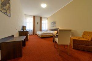 Penzion Panský dům, dvoulůžkový pokoj s možností přistýlky
