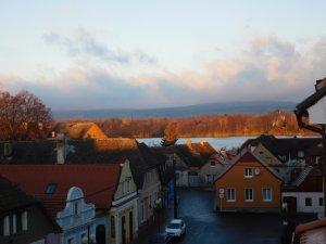 Penzion Panský dům, pohled z okna