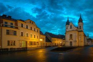 Penzion Panský dům v podvečer
